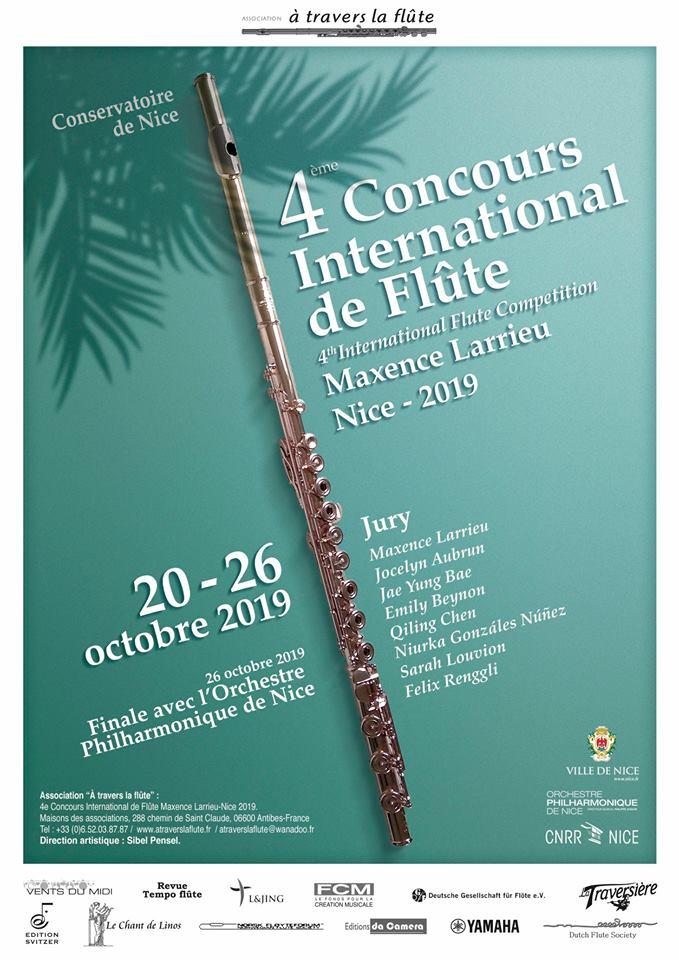 4to. Concurso Internacional de Flauta Maxence Larrieu, Niza 2019